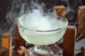 green smoking cocktail
