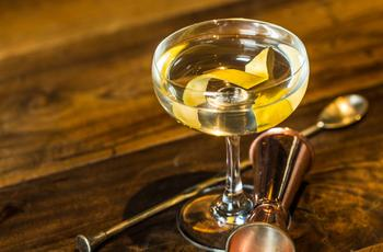 Vesper martini cocktail