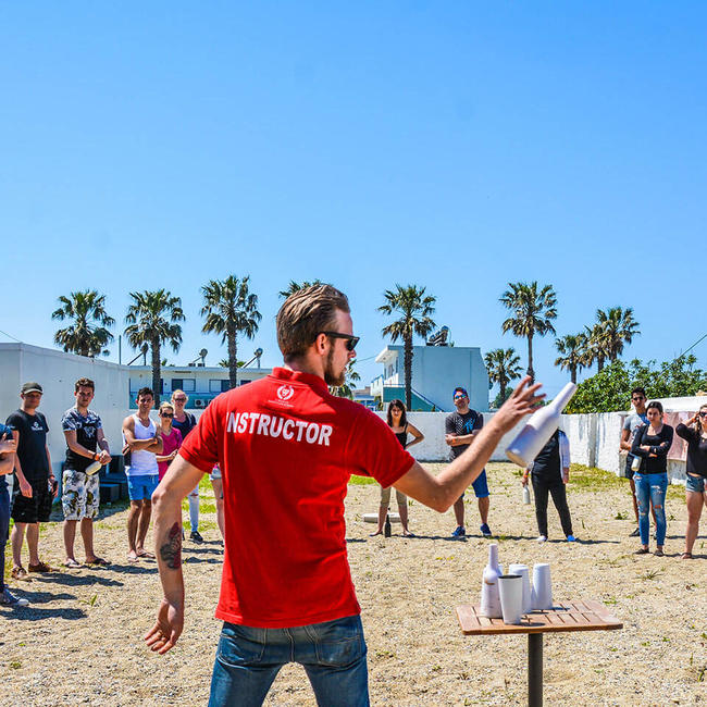 flair bartending class on kos beach