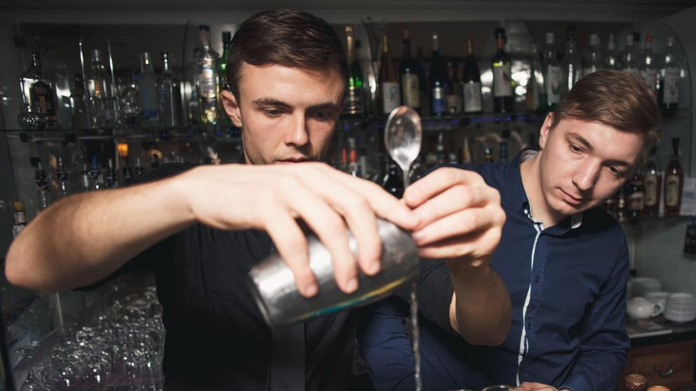 bartenders working together