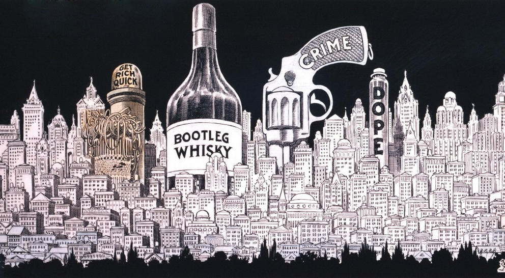 prohibition era illustration